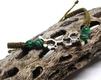Adrenaline molecule bracelet-extreme sport jewelry-daredevil bracelet-beaded macrame