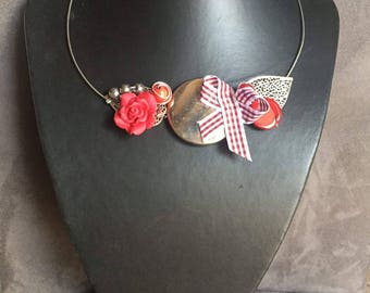 Bennett silver and Red fashion necklace