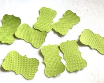 Cut-out Panel 8 in lime green waterproof canvas dies