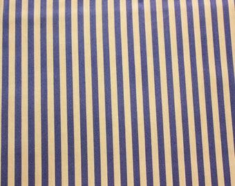 Medium Stripe, Quilting, Basic Fabric, Stripe Fabric, Striped Fabric, Light Purple, White Based, 100% Cotton Fabric, Half Meter, Extra Wide
