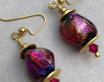 Light Changes Dramatic Dichroic Earrings