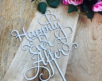 Happily Ever After Wedding Cake Topper Cake Topper Cake Decoration Cake decorating wedding cake topper Sugar Boo Cake Toppers SugarBoo SMT2