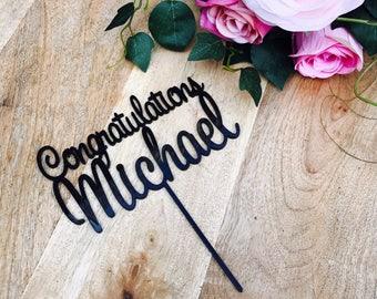 Congratulations Cake Topper Congratulations Personalised Cake topper Congrats Cake Topper Congratulations Topper Personalized SWT