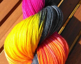 Tequila Sunrise - Hand Dyed Yarn - 100g - Fingering/Sock Weight