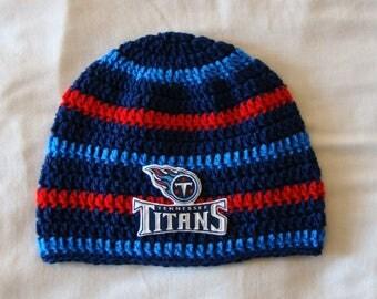 Tennessee Titans Men's Hat / Unisex / One Size / Handmade / Crochet / Gift for Men