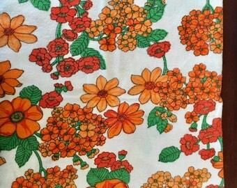 2x vintage retro flannelette pillowcases
