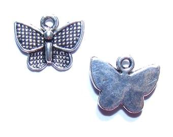 Charms butterflies silver 12mm x 10