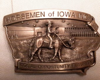 Vintage Limited Edition Numbered Western Belt Buckle 1980s