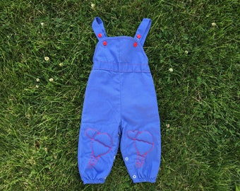 Vintage 70's sears baby overalls size 9-12 months