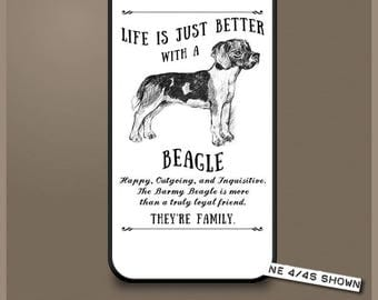Beagle dog phone case cover iPhone Samsung ~ Can be Personalised