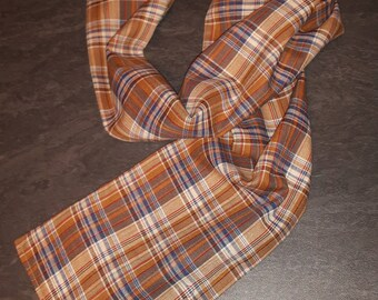 fabric lined up to 2 years baby Plaid scarf