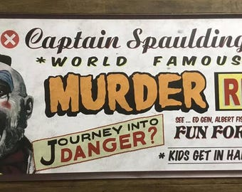 Captain Spaulding Large Banner- Devils rejects/House of 1000 corpses