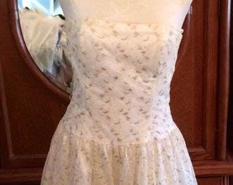 Jessica McClintock Size 10 Strapless Formal Fancy Dressy Dress