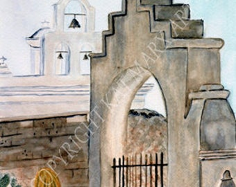 Limited Edition, The Gate, Mission,San Xavier del Bac, Tucson Arizona, Sonora Desert , White Dove of the desert Spanish Mission,