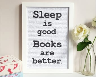 Books Are Better Print - George R R Martin Quote - Bedroom Wall Decor - Book Lover Gift - Reading Poster - Bookish Wall Art - Literary Gift