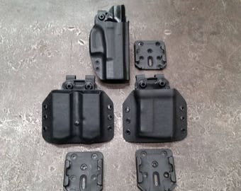 Holster, Pistol Mag & AR / M4 Kydex Carrier Comb Kit with Modular Mount