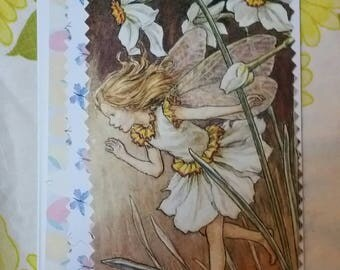 Upcycled Flower fairy notecards