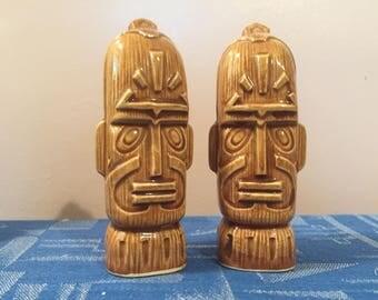 Tiki Salt and Pepper Shakers