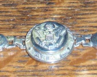 WW2  Army Sterling Womans Sweetheart Bracelet
