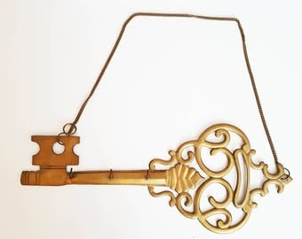 Large Solid Brass Key Rack / key storage.