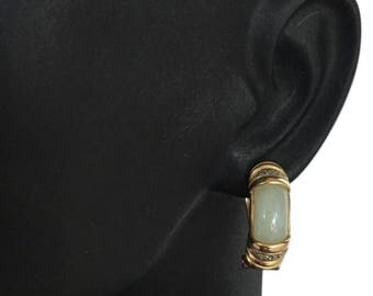 14k gold Jade earrings