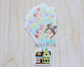 Up Movie House with balloons Inspired Vinyl Sticker