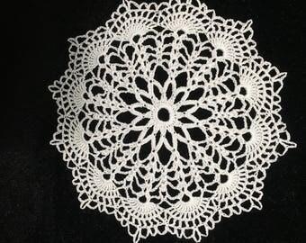 Miniature crochet tablecloth