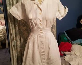 Vintage white nurse uniform