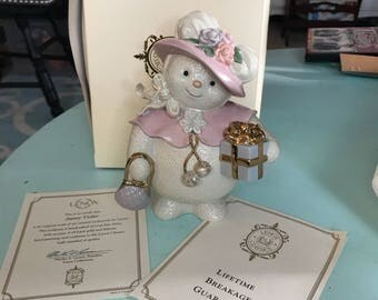 Lenox Snowy Visitor Fine China collectible snowman