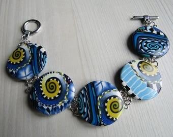 Bracelet polymer clay flat beads