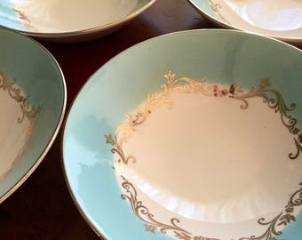4 Berry Bowls | Homer Laughlin | Lifetime China | Gold Crown