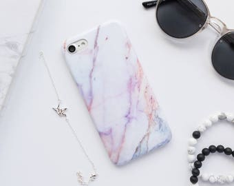 iphone 8 plus pink marble case