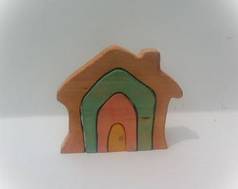 Country Cottage. Waldorf Wooden toy.