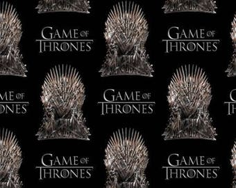 HBO Game of Thrones The Iron Throne from Springs Creative woven cotton, fabric woven, black, yardage