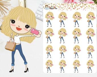 Light Hair girls planner stickers (P2)