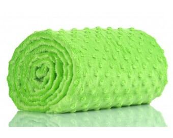 Half a metre coupon 50 minky fabric x 160 cm, green velvet fabric / plush