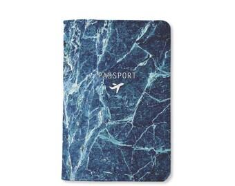 Valentine day Deep Marble passport holder,personalized passport cover,leather passport cover,personalized gift,gift for her,gift for him