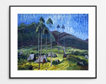 Emily Carr - Odds and Ends, 1939 - Forest Painting - Canadian Art - Forest Print - Forest Wall Art - Landscape Painting - Logging Decor
