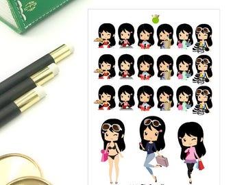 Lena - Multi Tasks Chibi Stickers