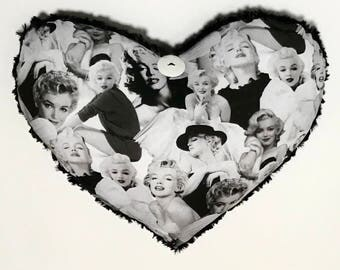 Decorative Marilyn Monroe Heart Pillow