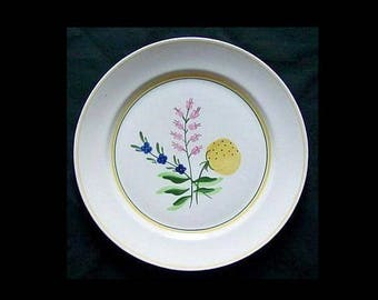 "Blue Ridge FETCHING 9.25"" Plate Vintage Pottery Southern Potteries Dinnerware Pink Cobalt Blue Yellow ~ Very Hard to Find!"