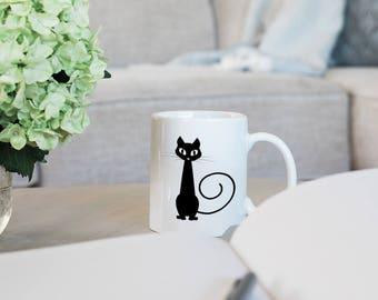 Cute Cat Mug - Cat Lady Coffee Mug - Kitty Cat Coffee Mug - Cat Lover Gift Mug - Funny Mug Cat - Cat Lady Mug - Funny Cat Coffee Mug