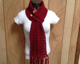 Crochet winter scarf and Headband set