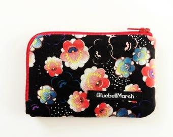 Oriental flower coin purse