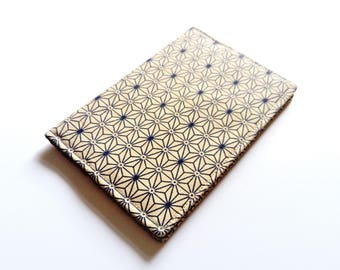 Passport cover, sashiko