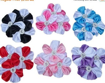 """30% OFF 1 Gorgeous Two Toned Satin 3"""" Cluster Flowers As Pictured."""