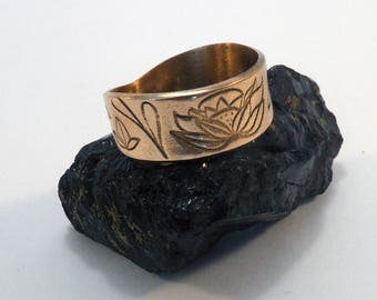 Hortense ring handmade in bronze