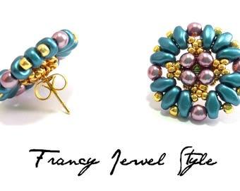 Code pin earrings 00801
