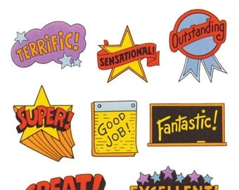 Retro Slogan Pack. Made in USA,Terrific,Birthday,Good Job,Gift,Great,Sticker,Cute,Decal