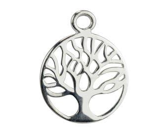 5 pendants Sterling Silver 925/1000 silver tree of life 12 mm fine jewelry